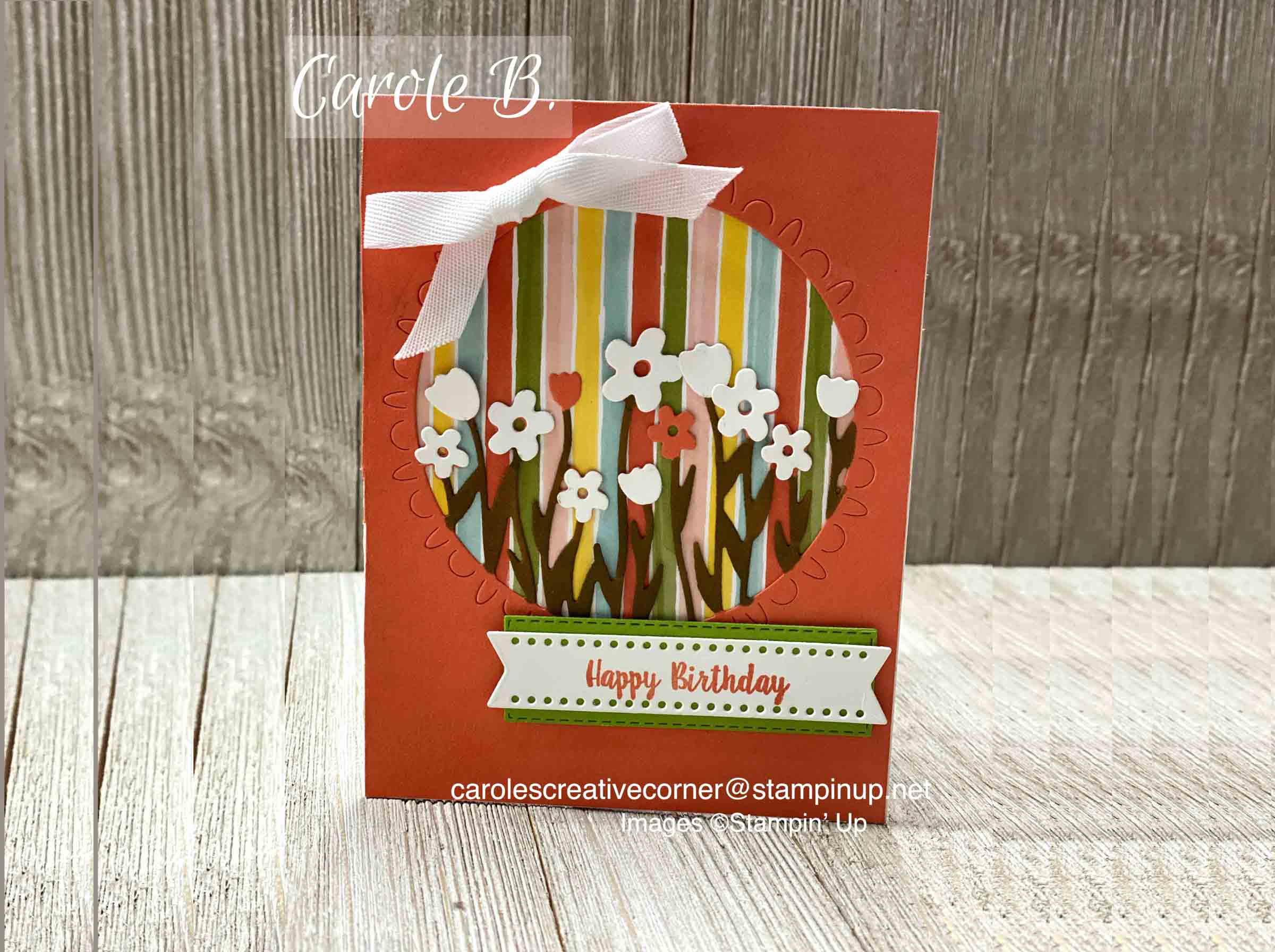 Stampin Up Sending Flowers: Tunnel Pop Out Card