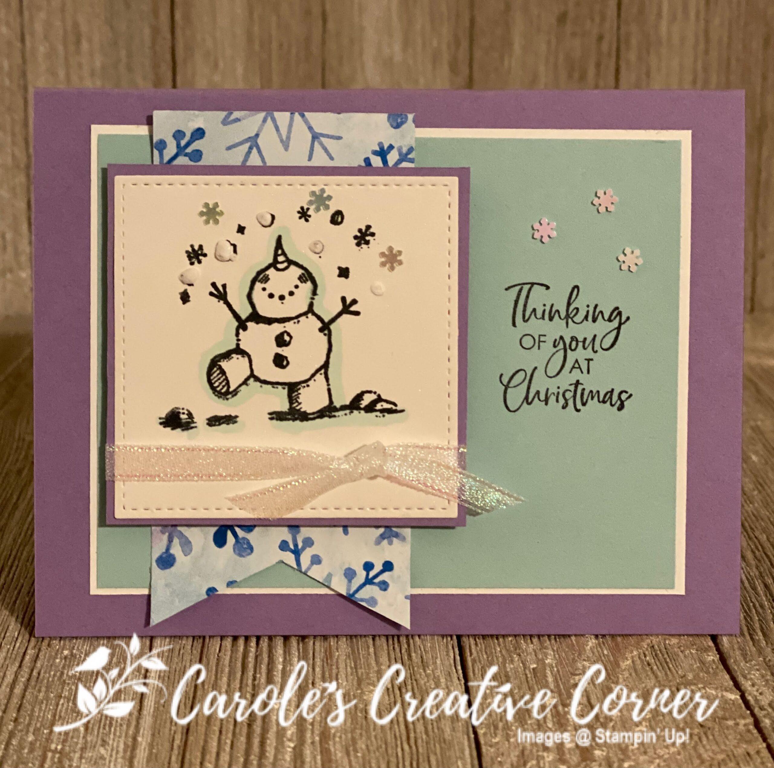 Snowman Season Snowball Card
