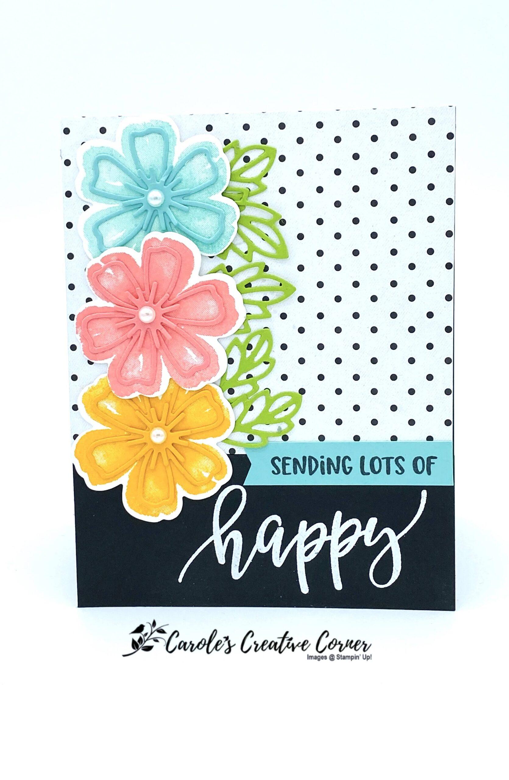 Pretty Perennials Happy Card