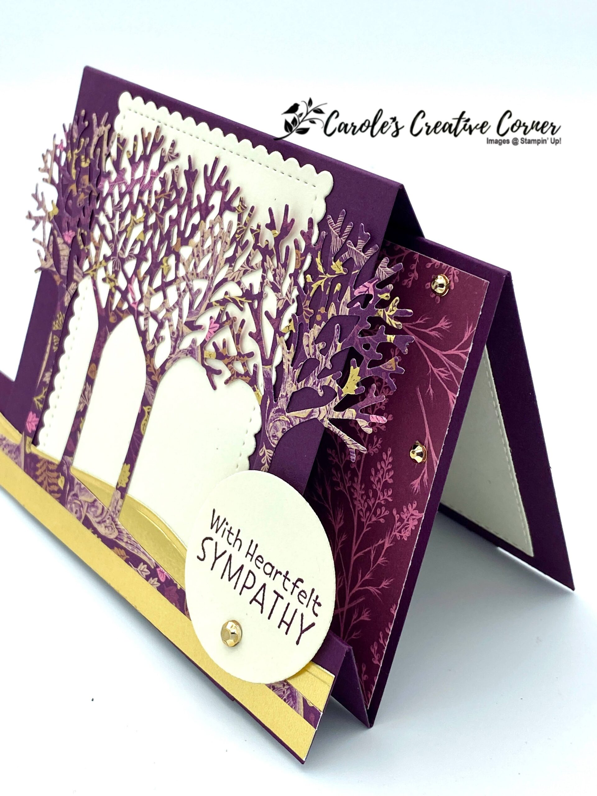 Inspired Thoughts with Blackberry Beauty Fun Fold
